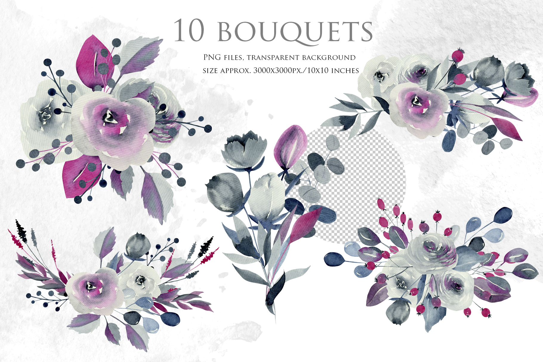 Georgia. Indigo floral bouquets. example image 3