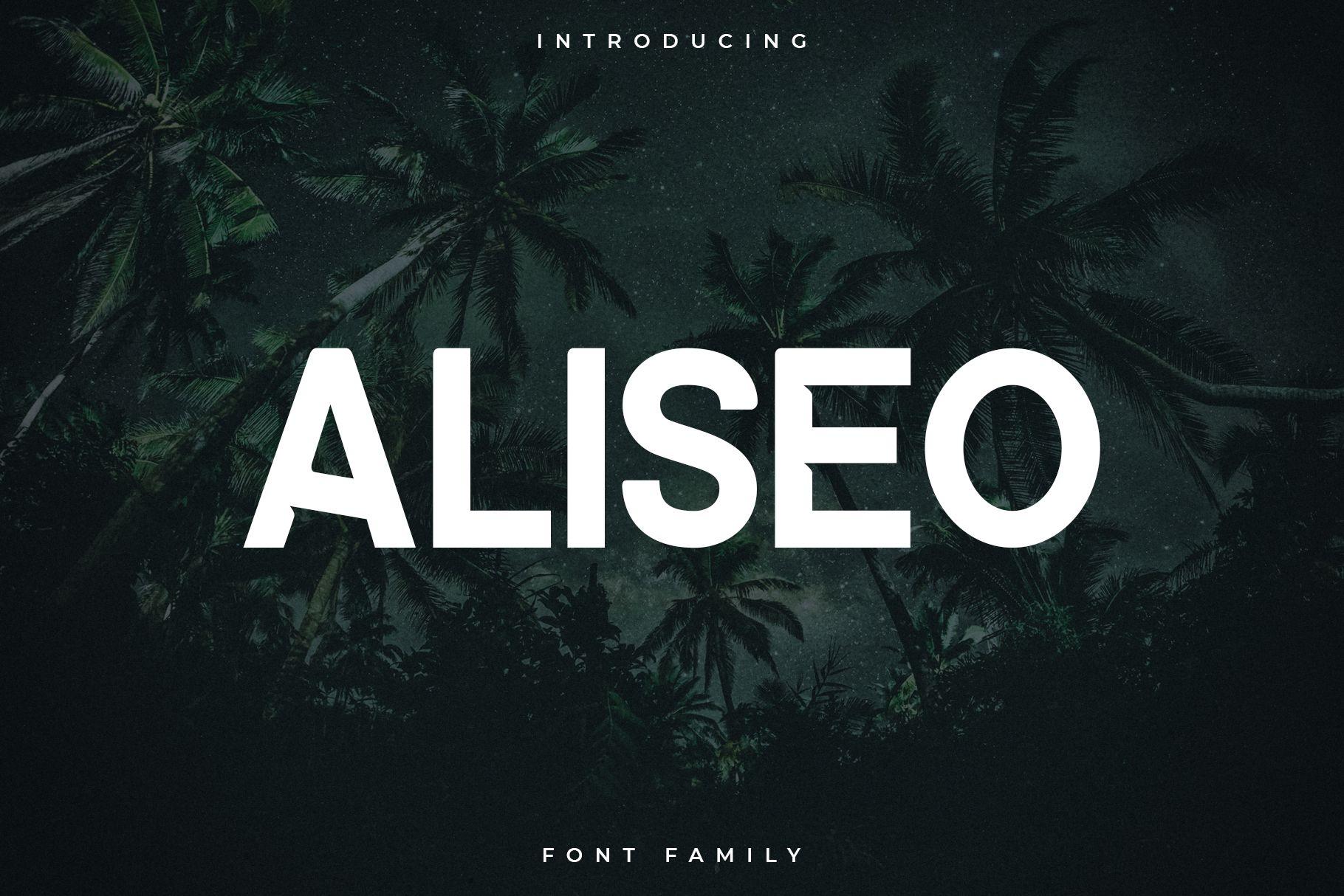 Aliseo Font Family - Sans Serif example image 1