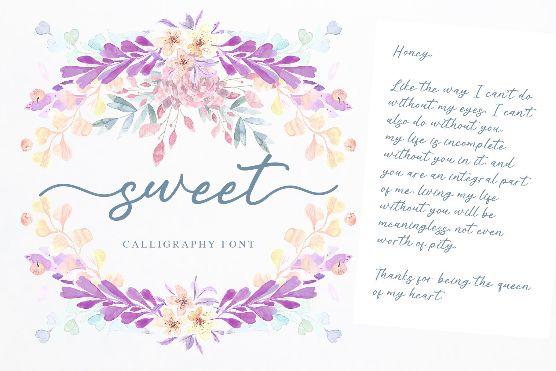 Alisha - Sweet Calligraphy Font example image 2