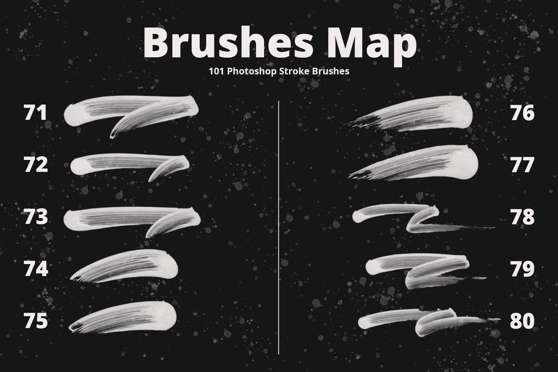 101 Photoshop Paint Stroke Brushes example image 10