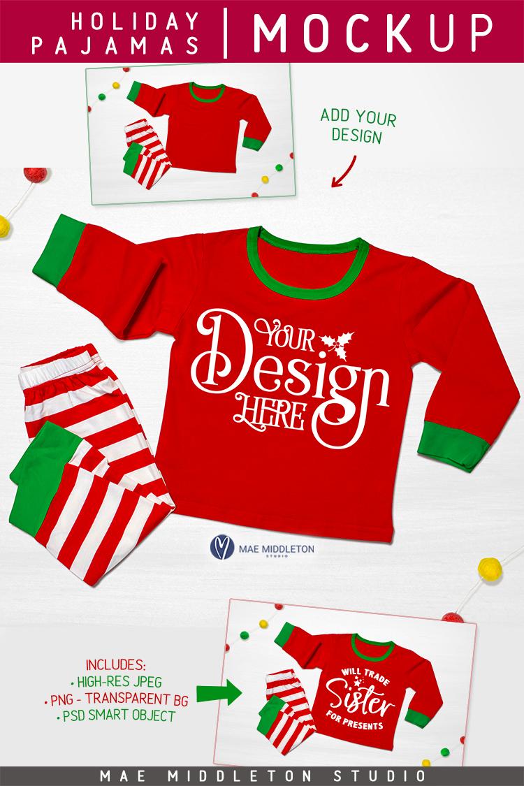 Christmas mock up - Holiday Pajamas example image 3