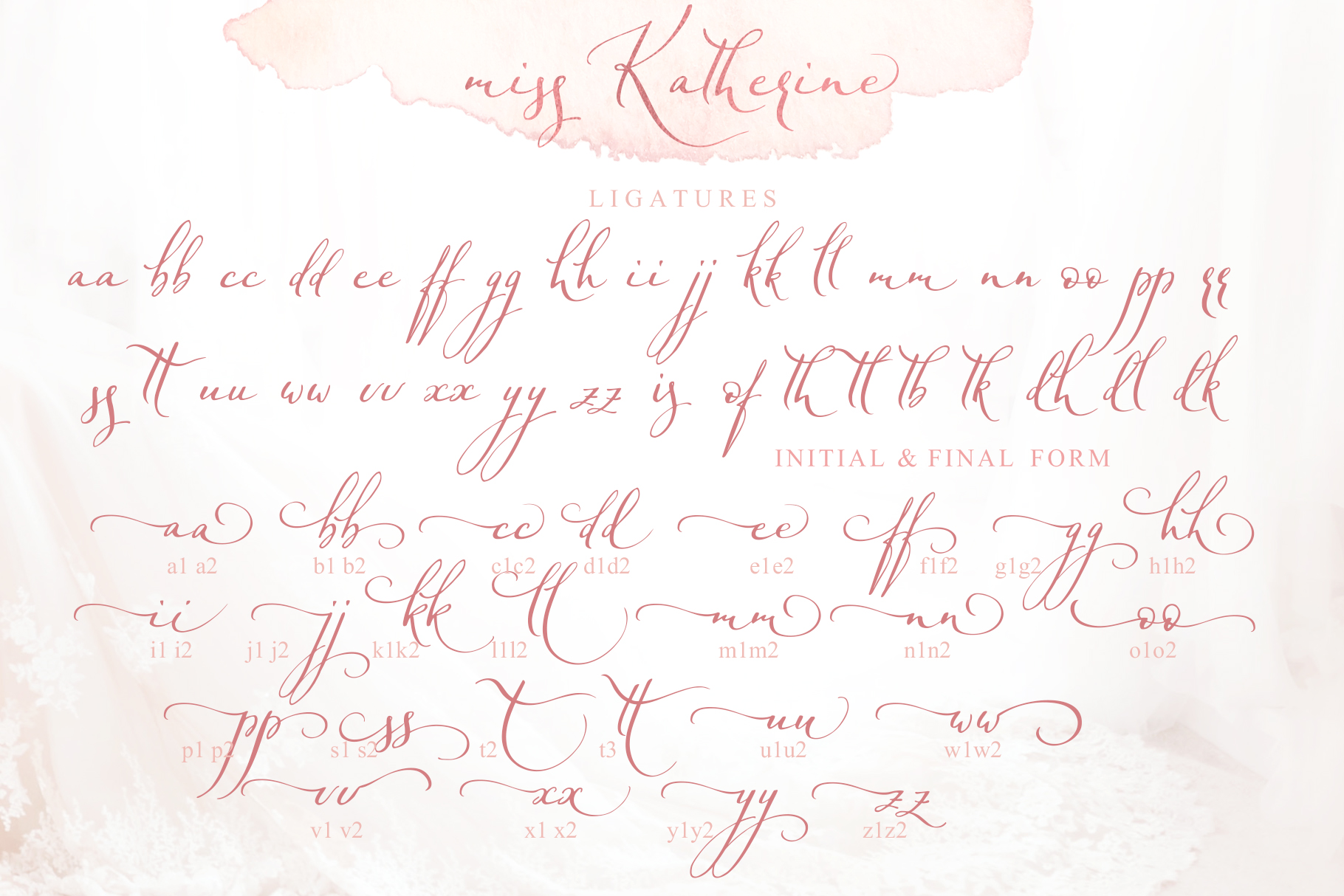 Miss Katherine font + Extras & Logo example image 10