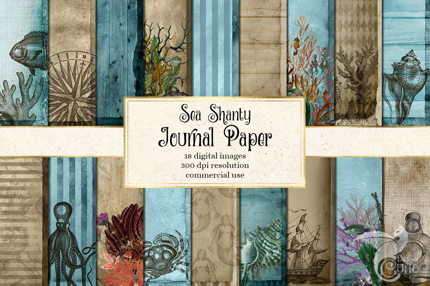 Sea Shanty Printable Journal Paper example image 1