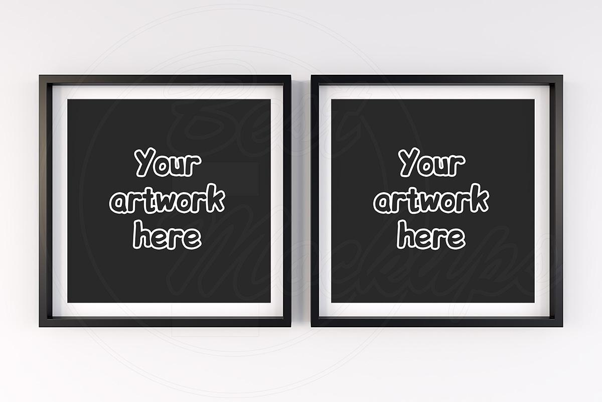 Modern insert frame mock ups room example image 1