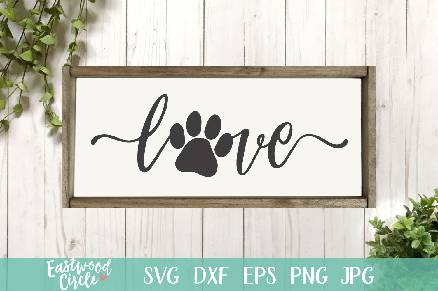 Download Love with Pawprint - Dog SVG File for Crafters (227270 ...