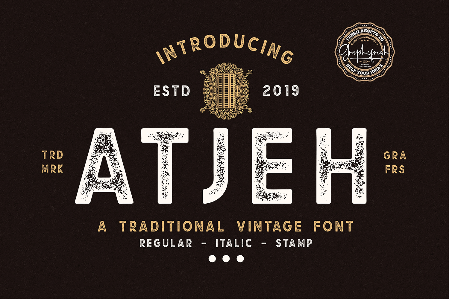 Atjeh - A Traditional Vintage Font | 4 Font Files example image 6