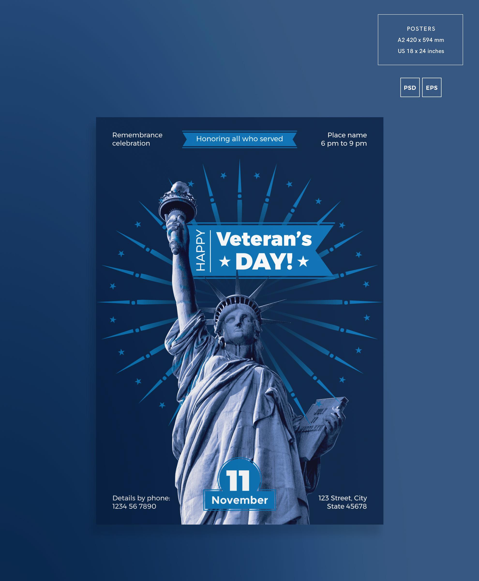 Veteran's Day Celebration Design Templates Bundle example image 3