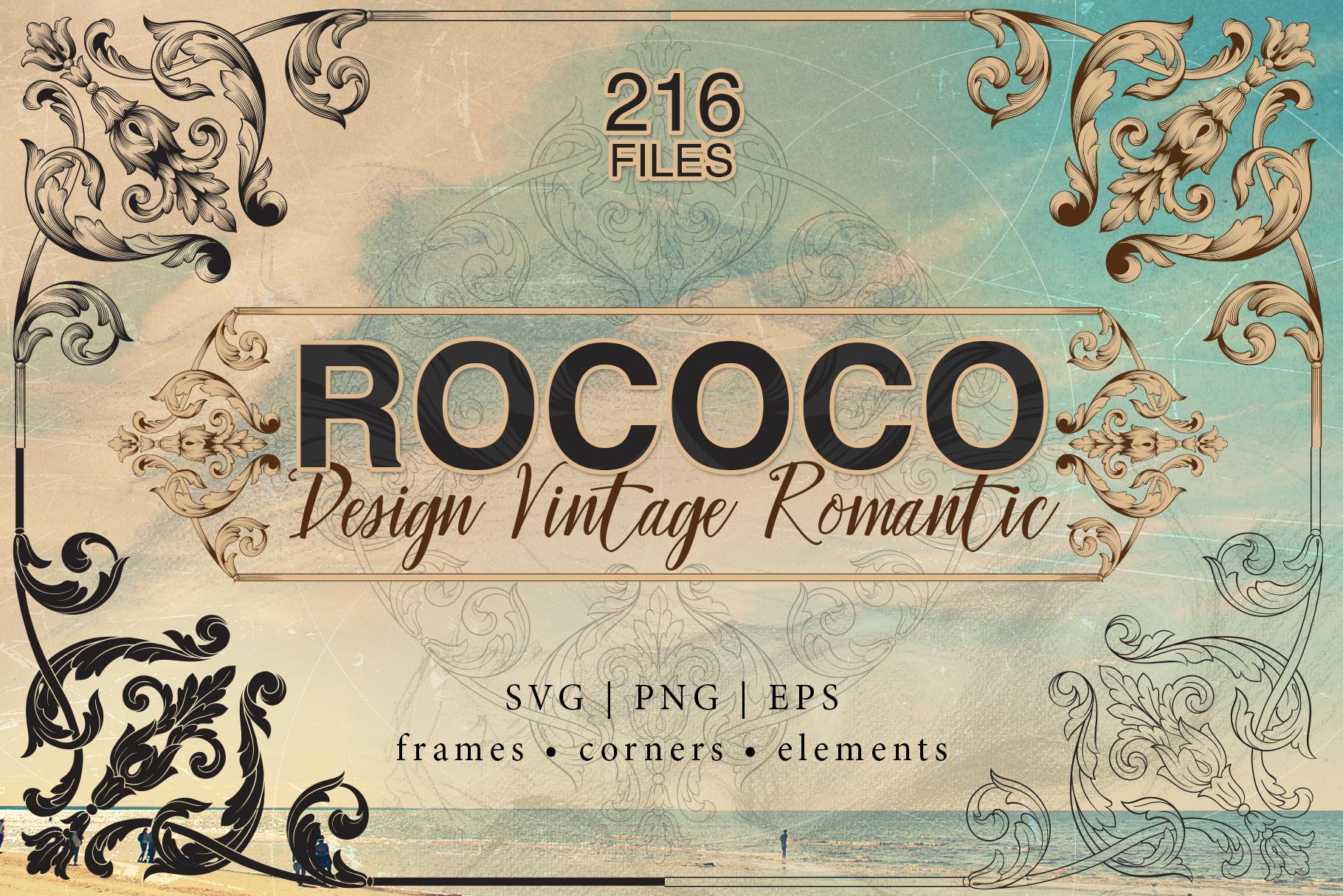 Rococo Romance Ornament page decor example image 1