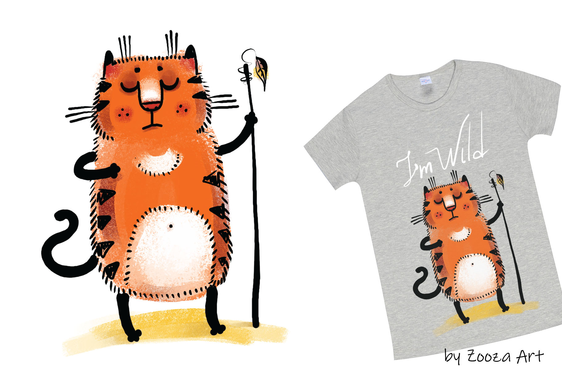 Wild Wild Cat - 14 illustrations example image 10