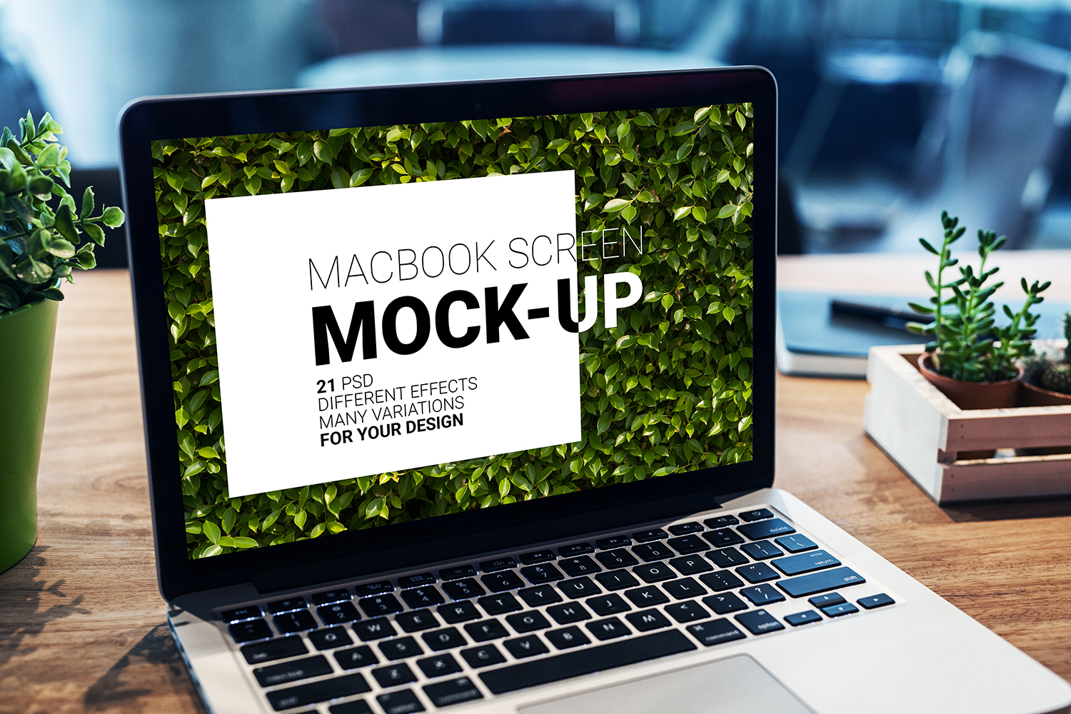 MacBook Screen Mock-Up / 21 PSD  example image 2