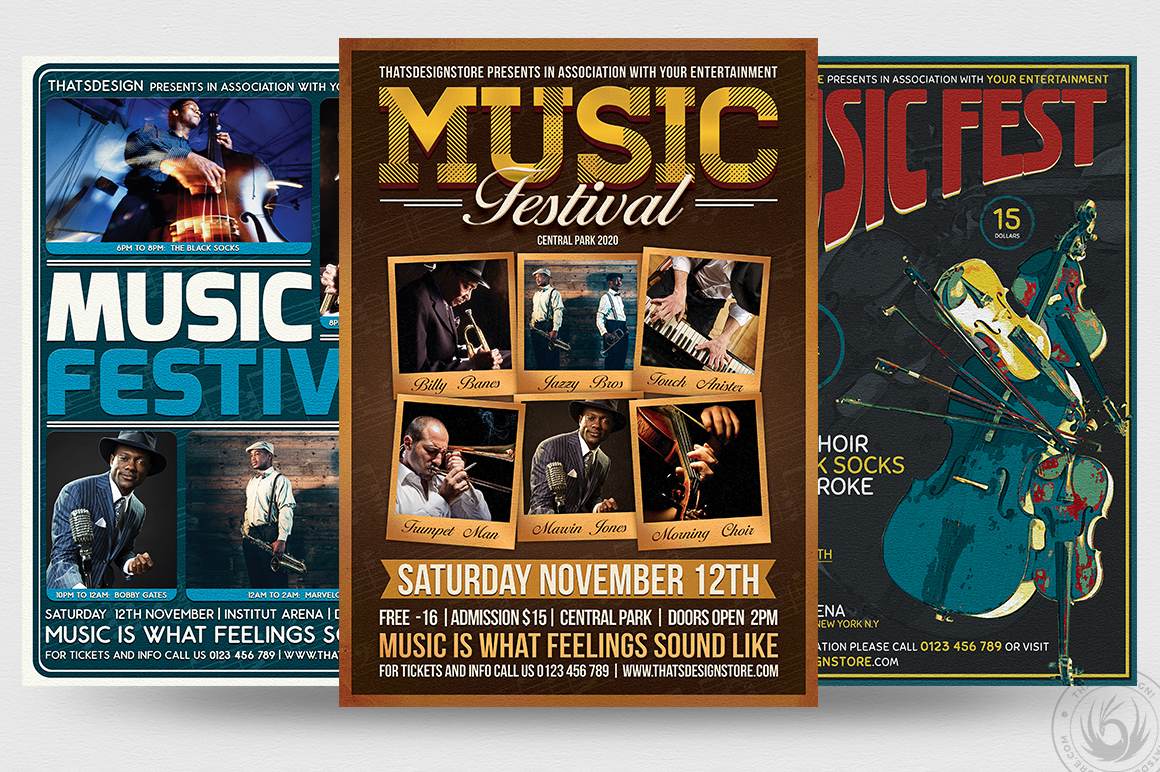 Concert Live Flyer Bundle V5 example image 2