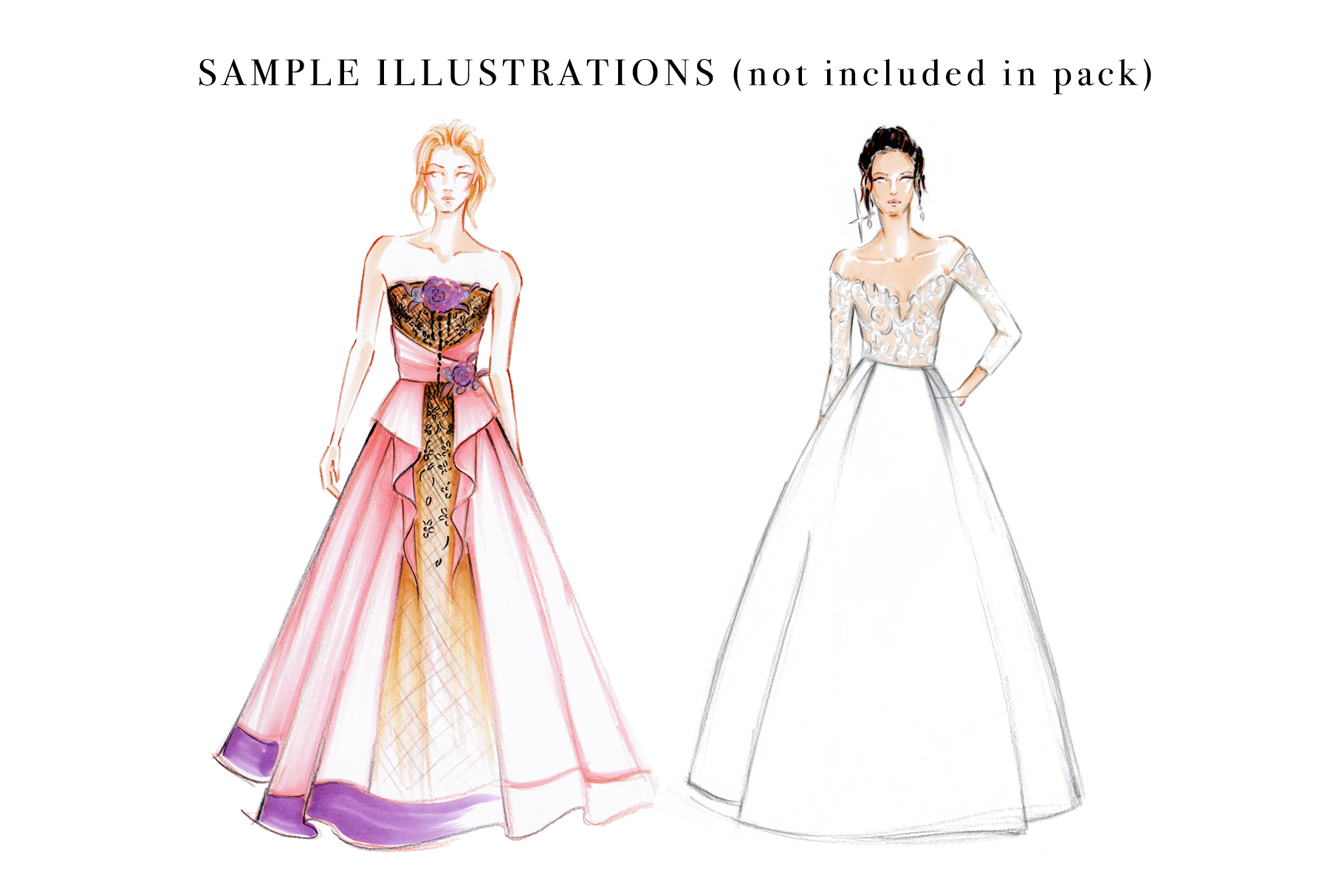 Female Figure Croquis Pack for Fashion Illustration example image 4