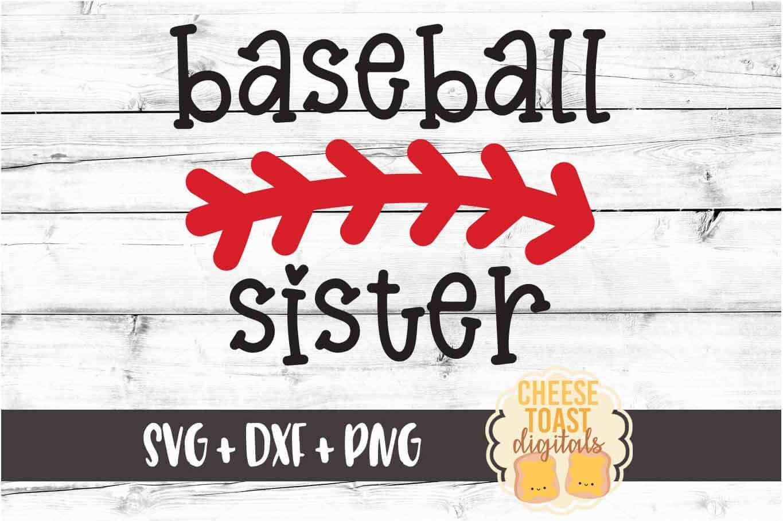 Baseball Sister - Baseball SVG PNG DXF Cut File example image 2