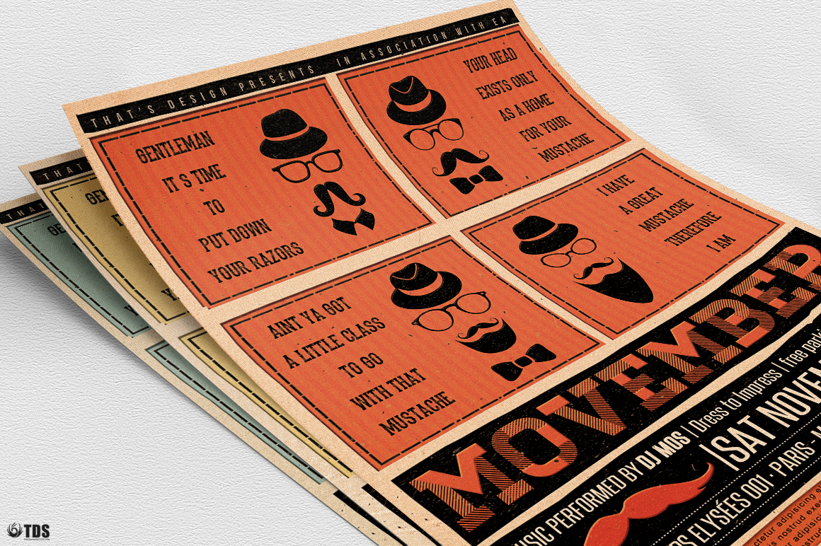Movember Flyer Template V1 example image 10