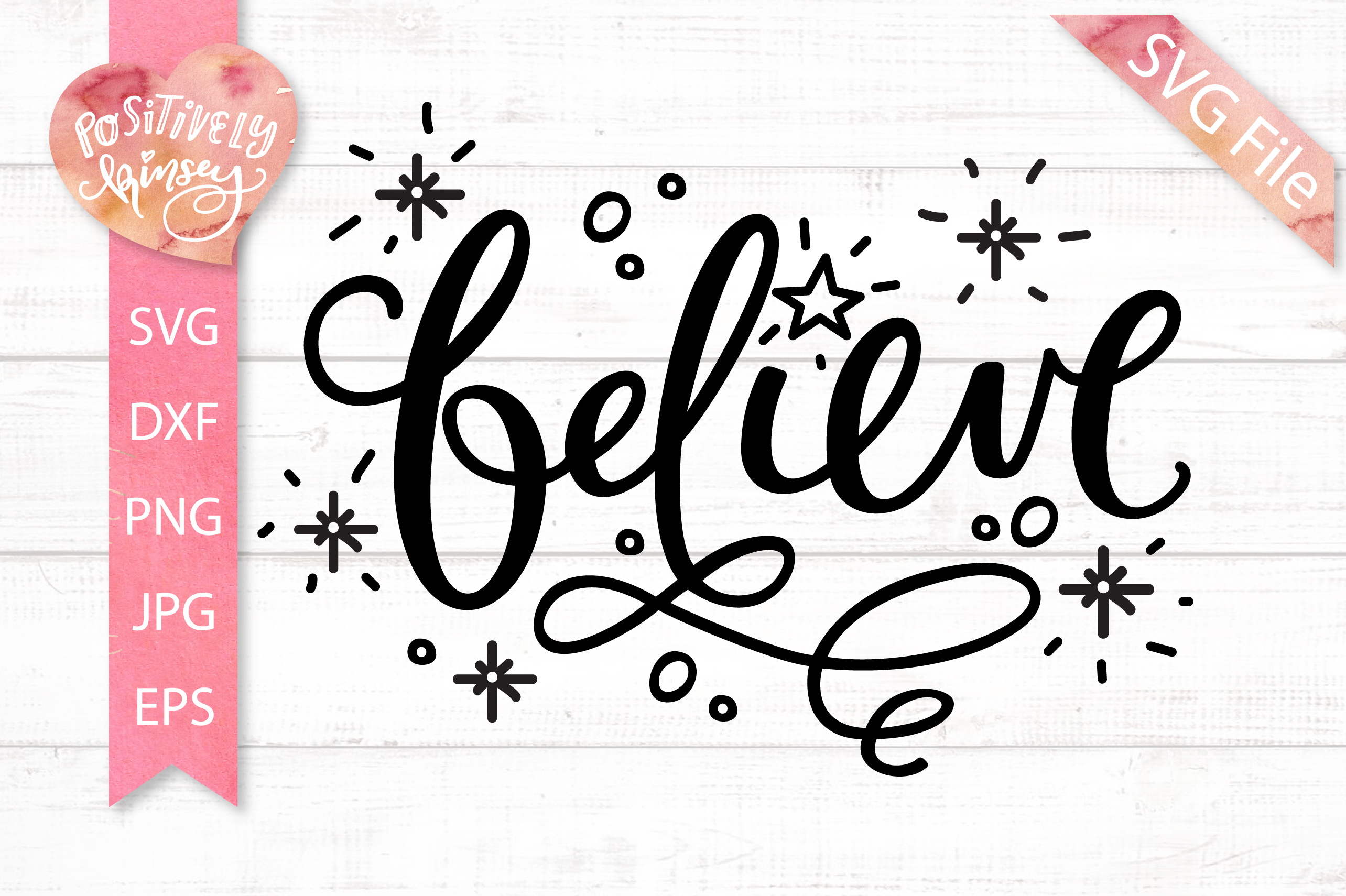 Believe SVG DXF PNG EPS Christmas SVG File, Santa Svg, Faith example image 1