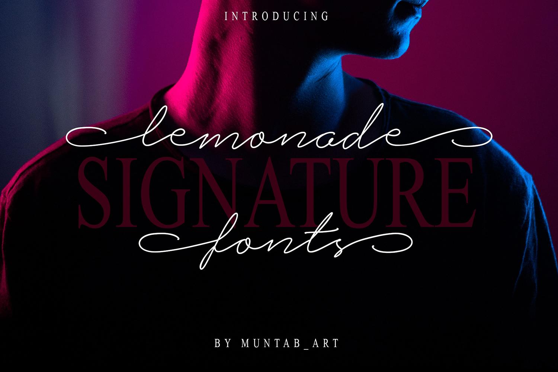 Lemonade Signature Font example image 1
