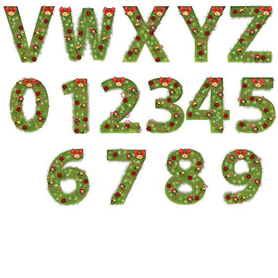 Christmas tree fir alphabet example image 2