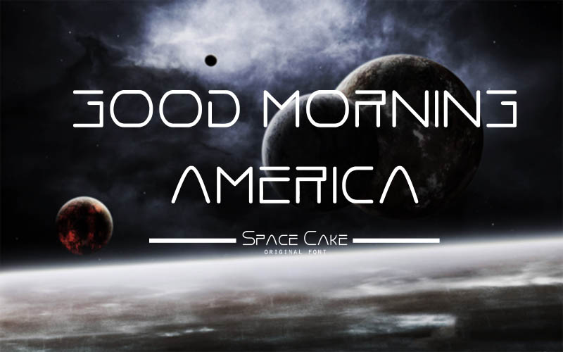 Space Cake Font example image 4