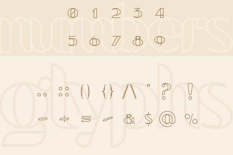 bevog font example image 3