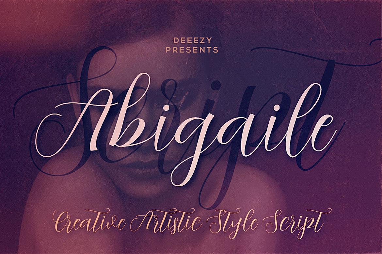 Abigaile Script Font example image 1