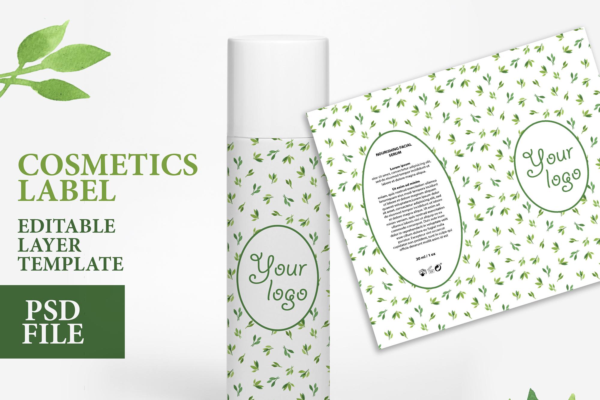 Cosmetic label soap design custom soap editable layer PSD example image 1