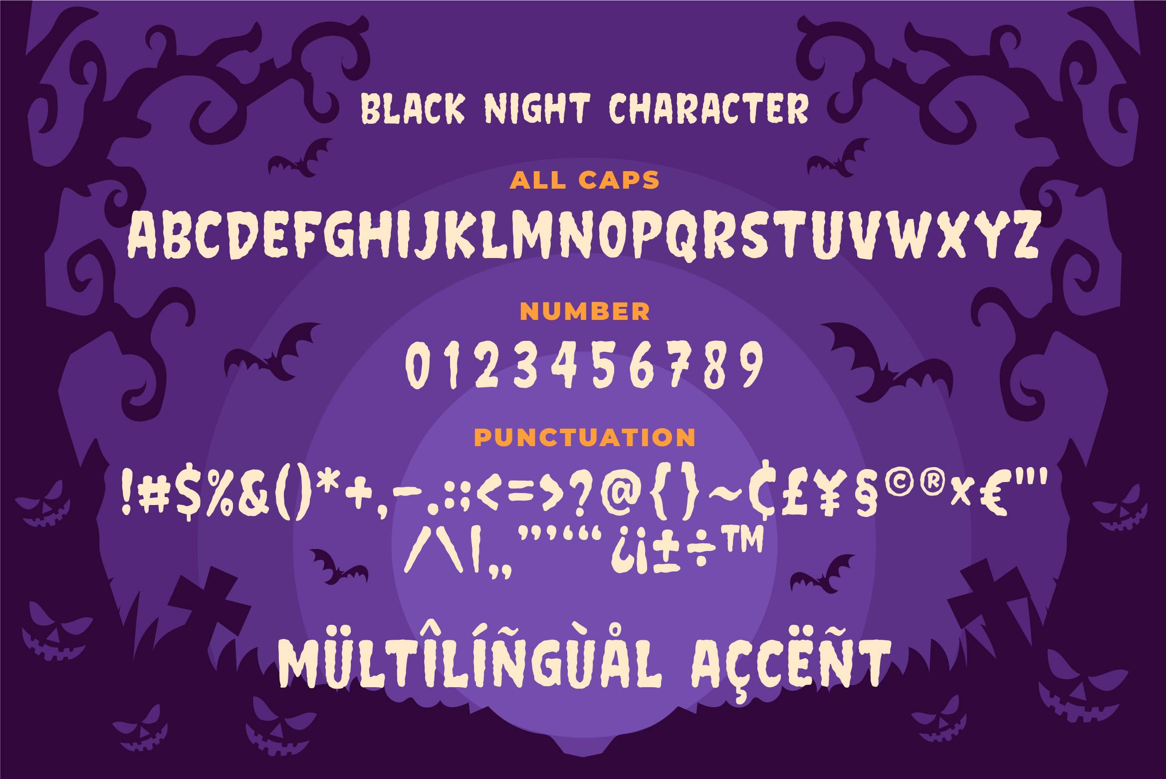 Black Night - Horror Typeface example image 5