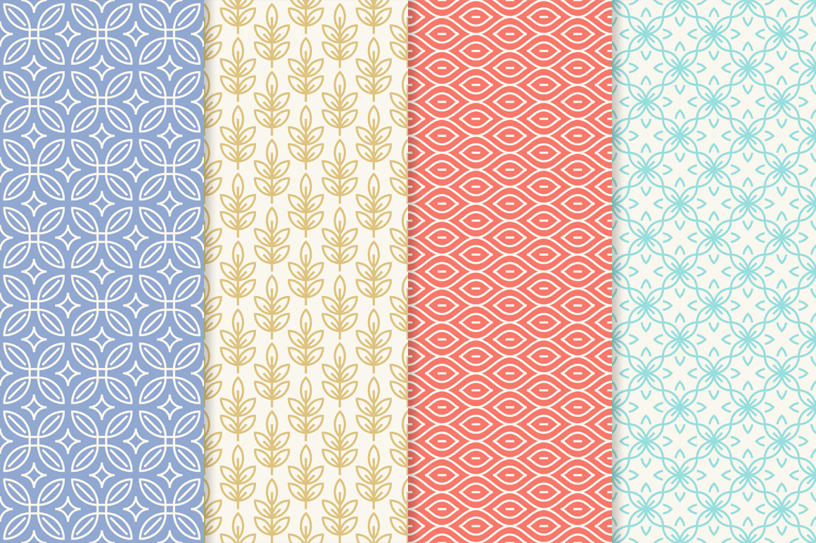 Mono Line Frames and Patterns - Set 18 example image 2