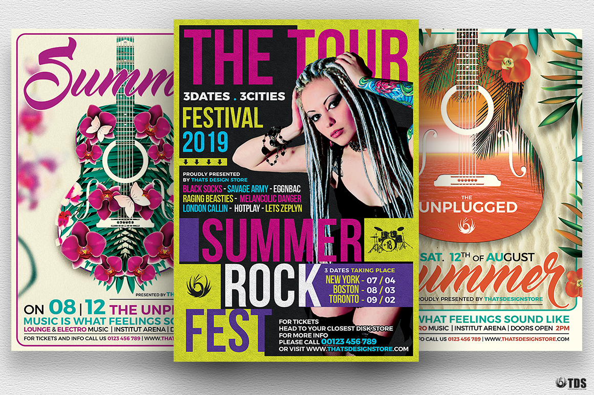 Summer Concerts Flyer Bundle example image 1