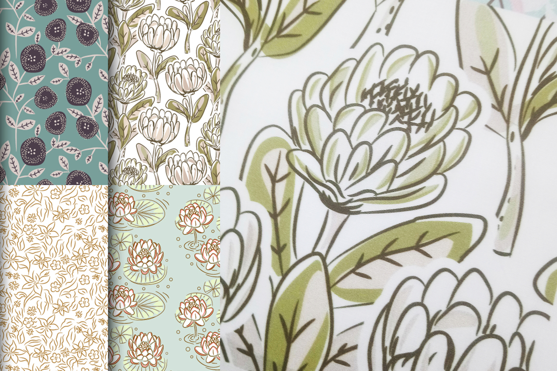 Floral Meadow - Seamless Patterns example image 2