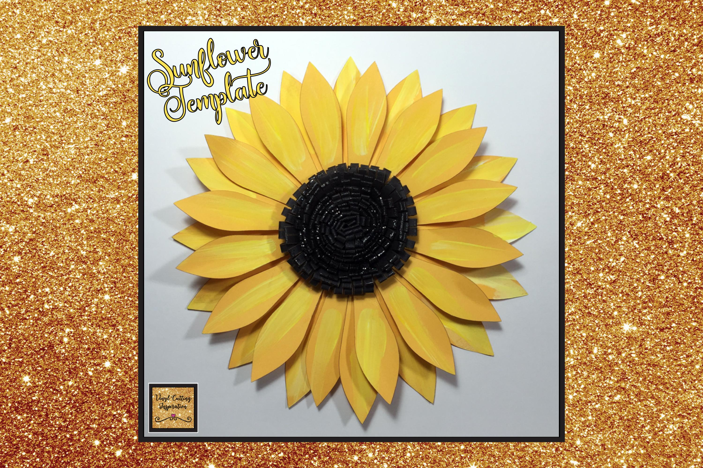 Paper Sunflower Template Cut File Flower Print Example Image Jpg 3000x2000 Petals