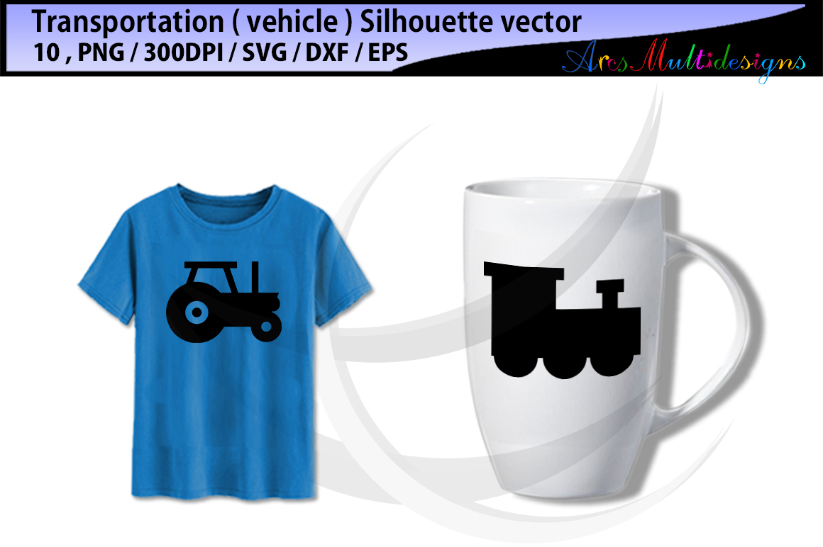 vehicle silhouette svg / transportation clip art SVG / transportation vector/ hand drawn doodle / Eps / Png / transporation silhouette example image 2
