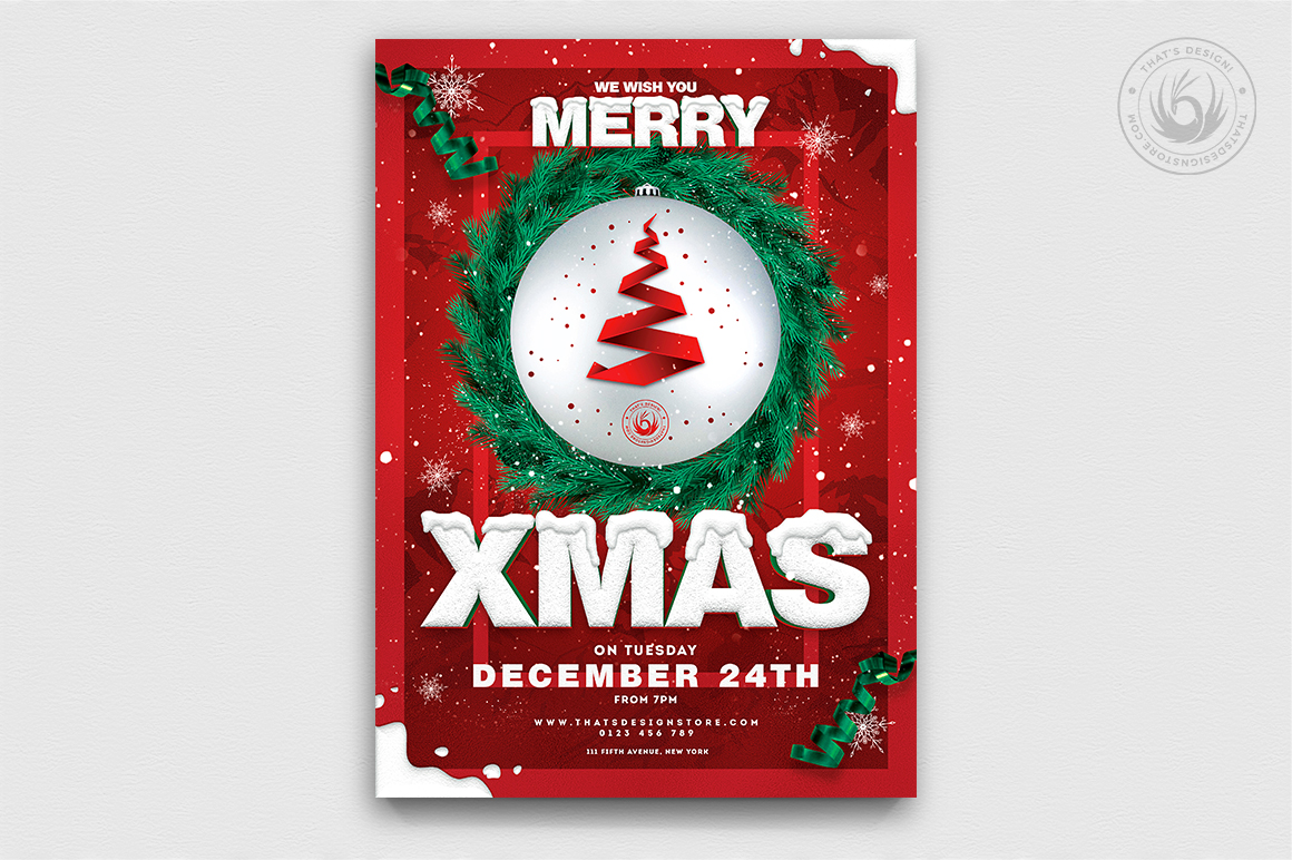 Christmas Eve Flyer Bundle V2 example image 5
