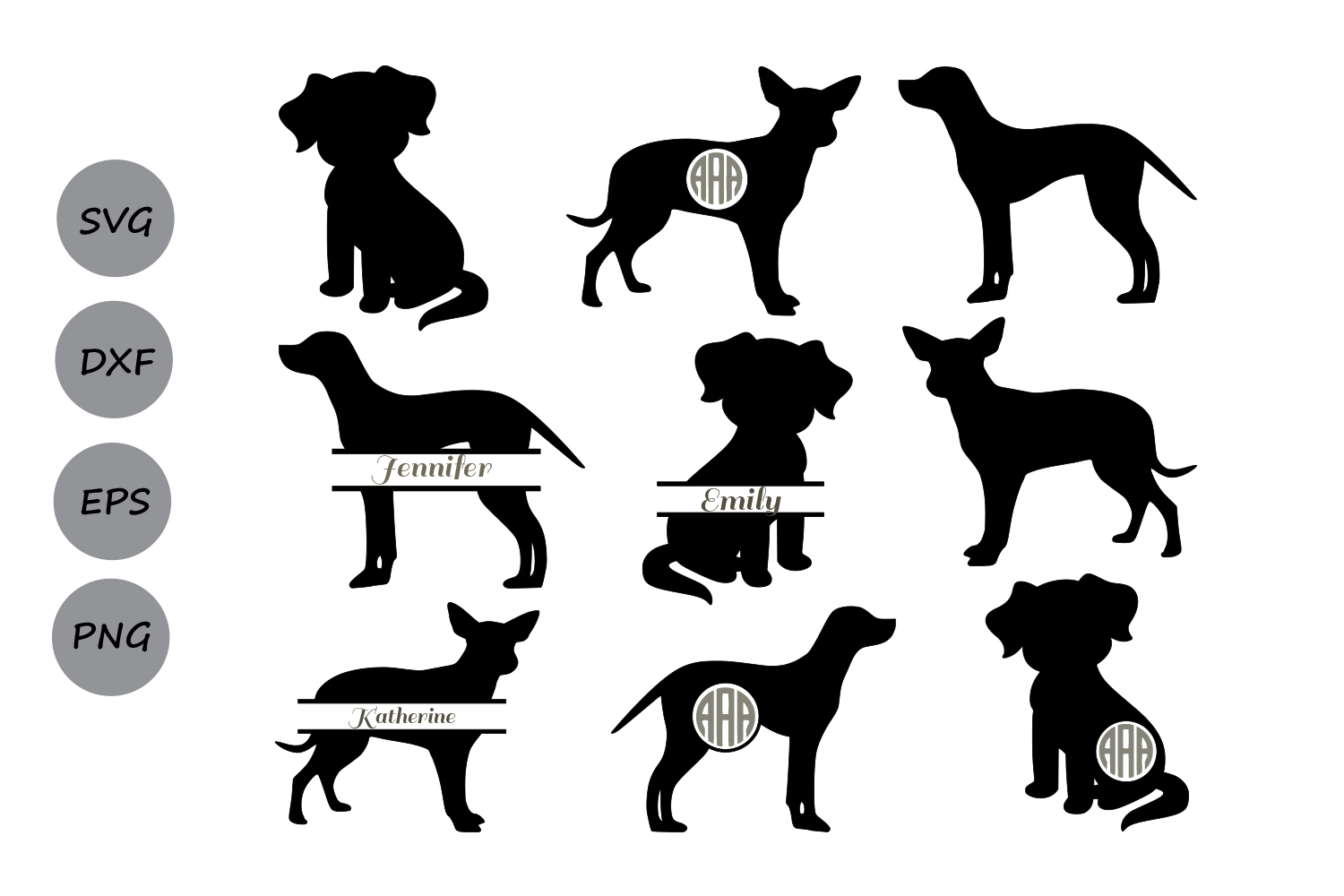 Download Dog SVG, dog monogram svg, Dog silhouette svg, Dog Clipart ...