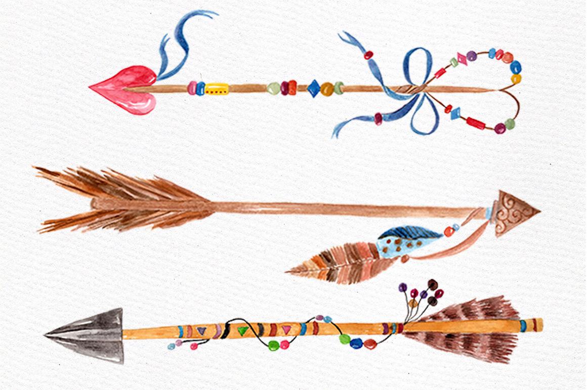 Watercolor arrows clip art example image 4
