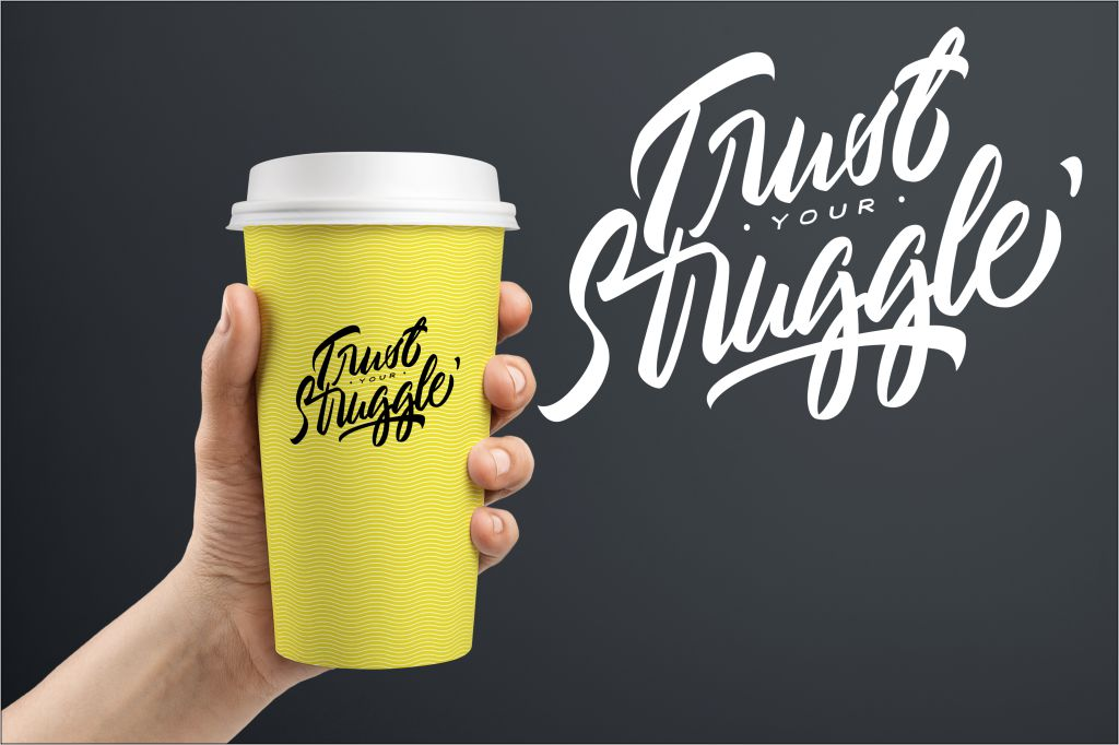 Typography//Trust Your Struggle SVG/PNG example image 6