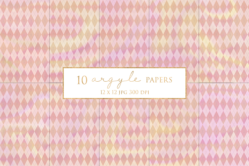 10 Pretty Argyle Magical Digital Papers example image 1