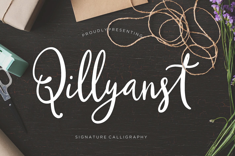 Qillyanst Signature Calligraphy example image 1