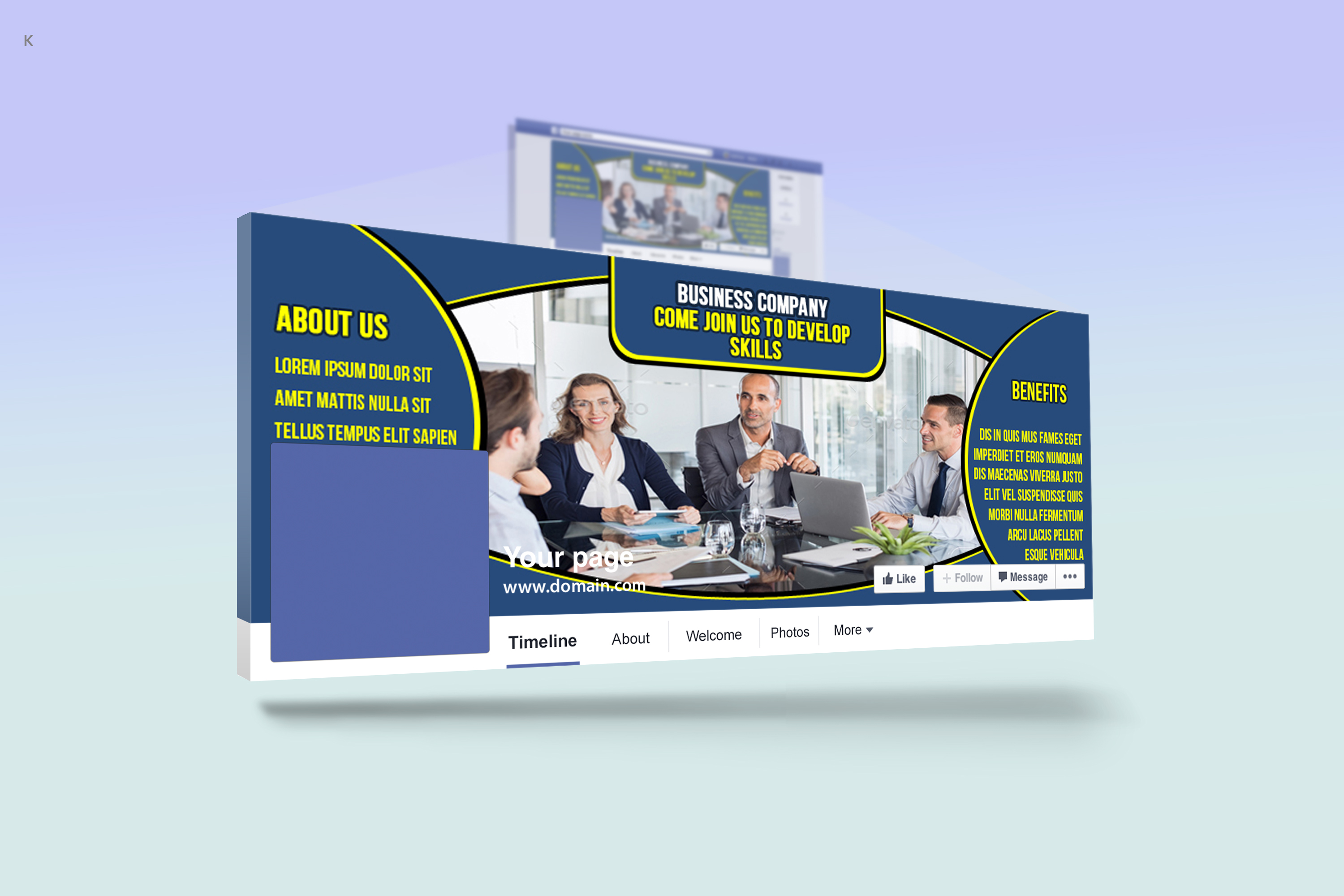 Business Facebook Cover example image 2