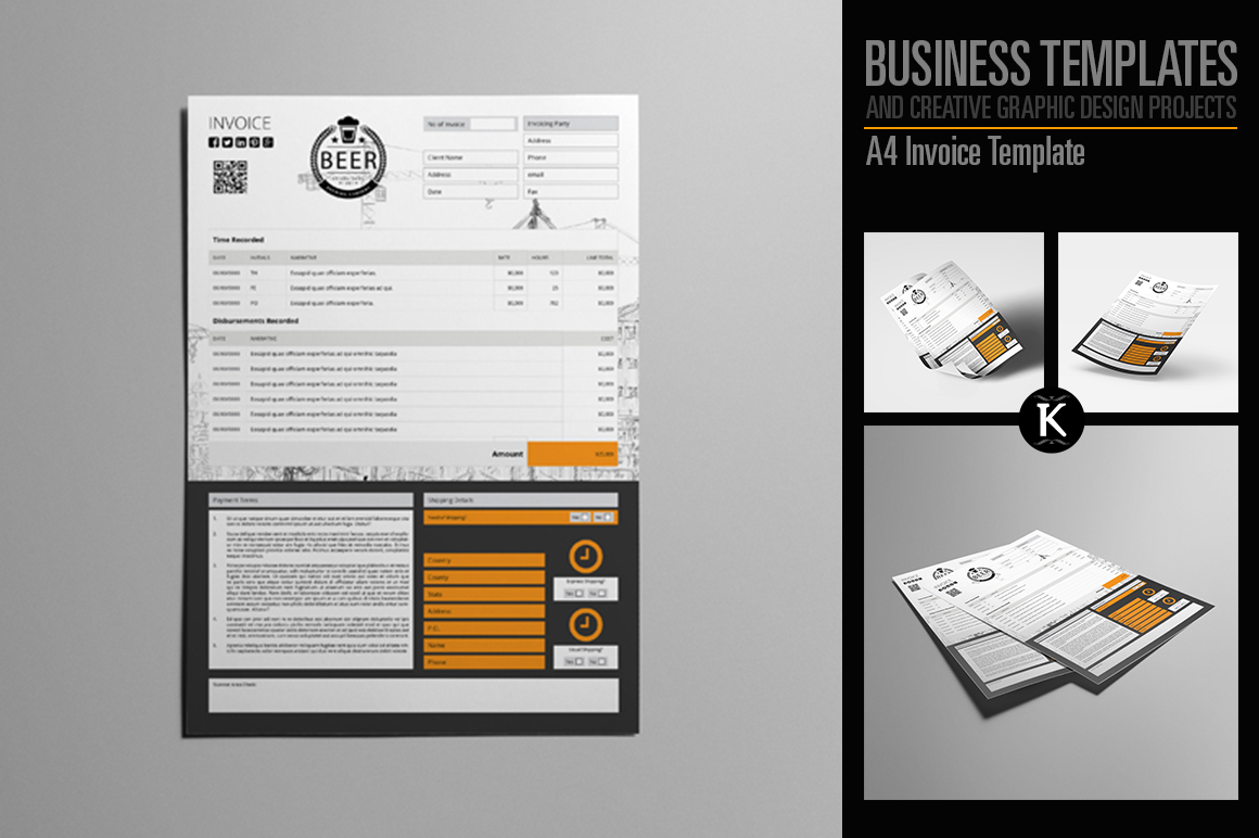 A4 Invoice Template example image 1