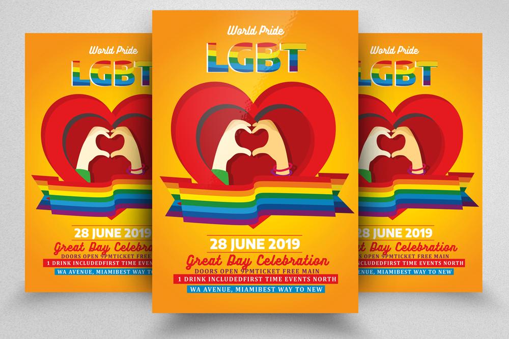 LGBT Pride Celebration Flyer example image 1