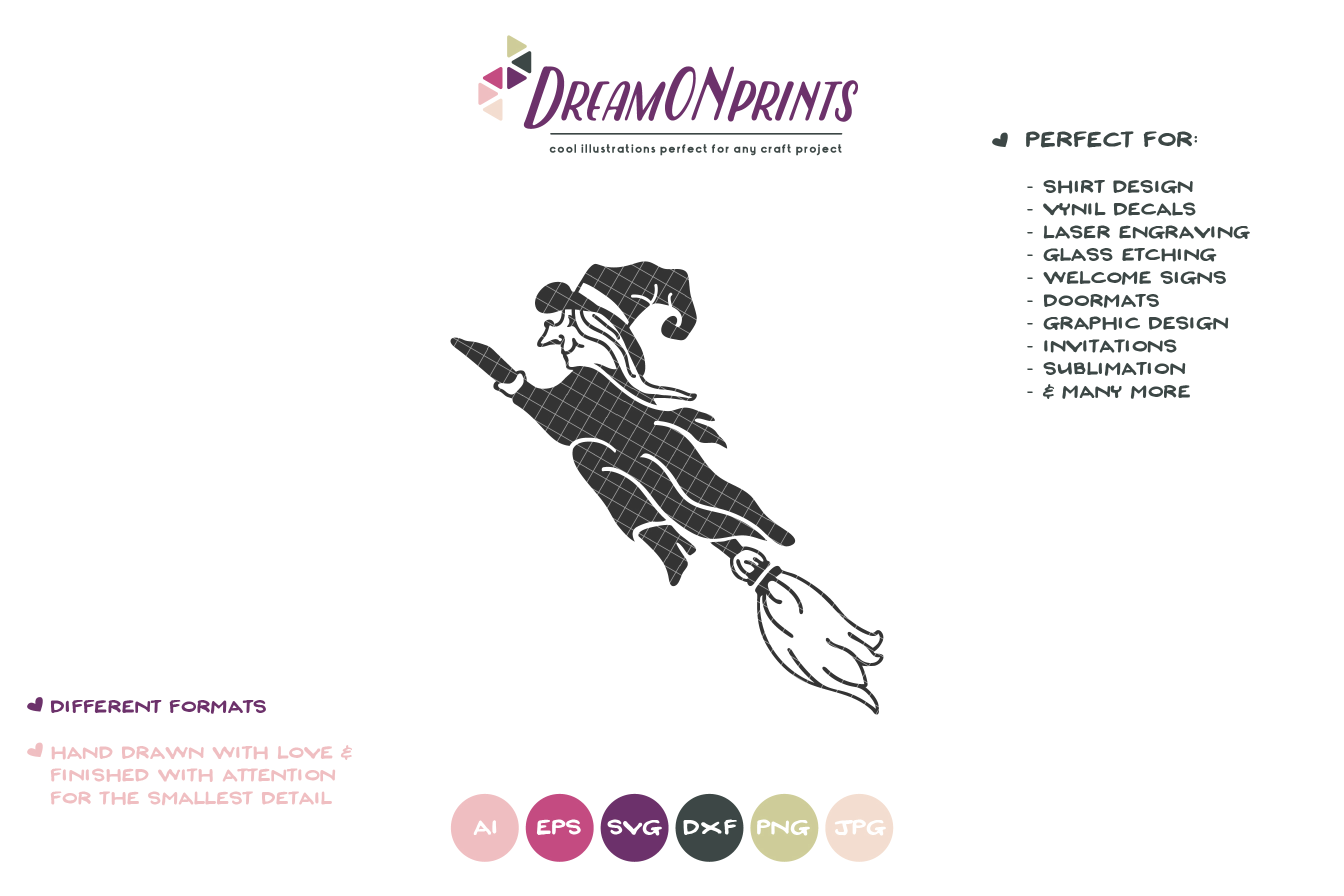 Witch SVG   Halloween Witch SVG Cut File example image 2