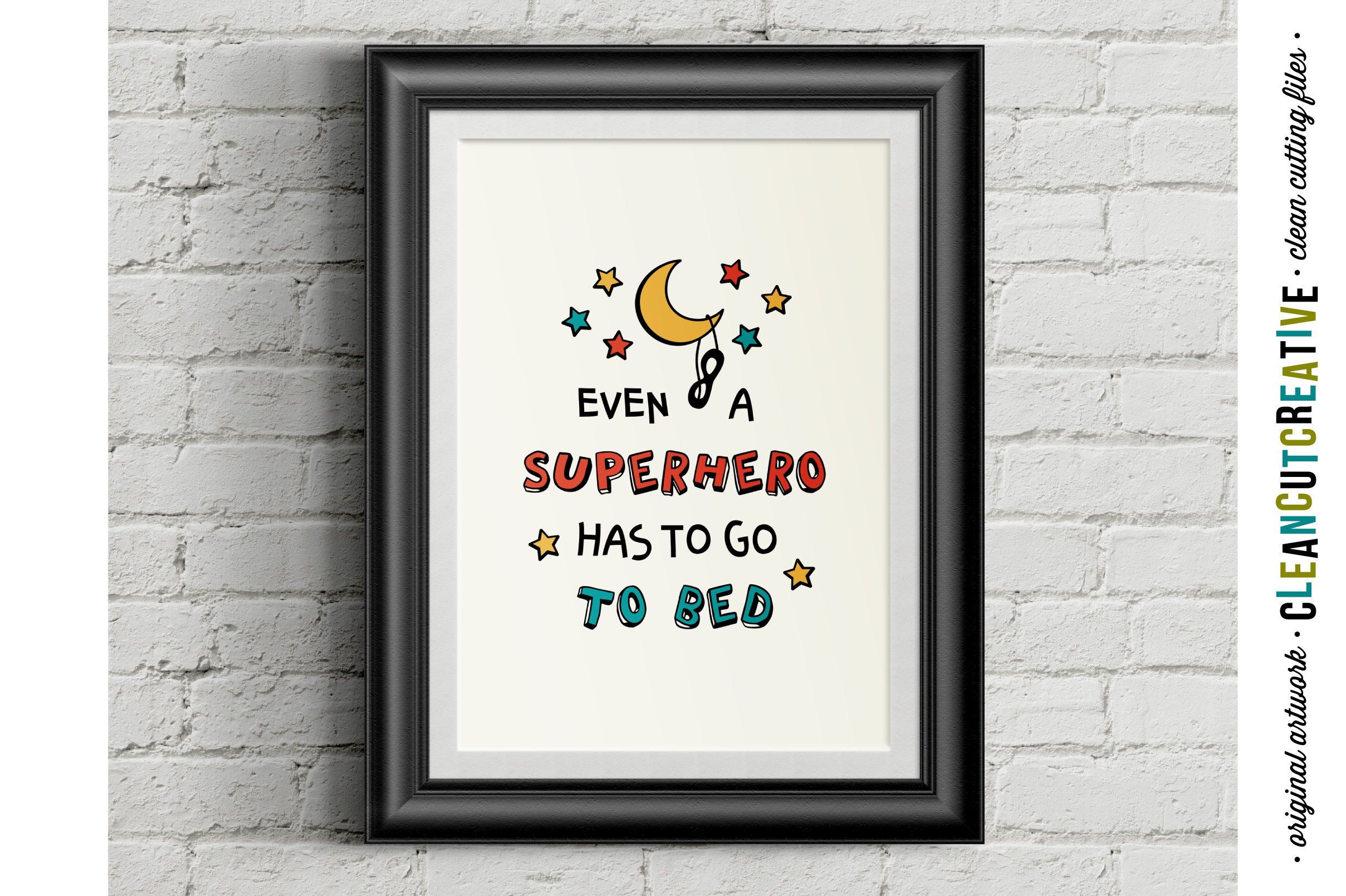 Funny Boys Superhero Bedtime Quote - SVG DXF EPS PNG example image 2