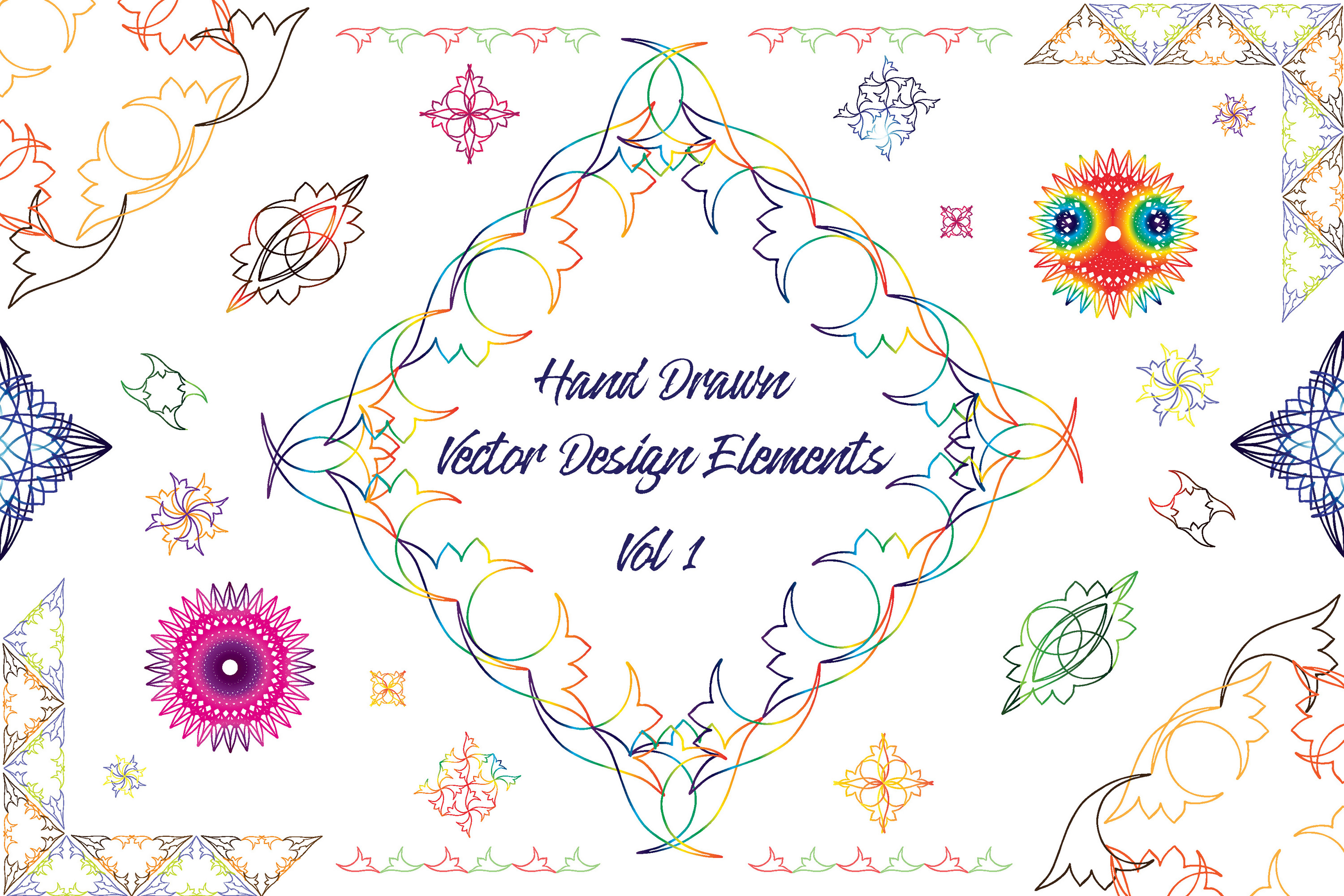 Hand Drawn Vector Design Elements_Volume 1 example image 1