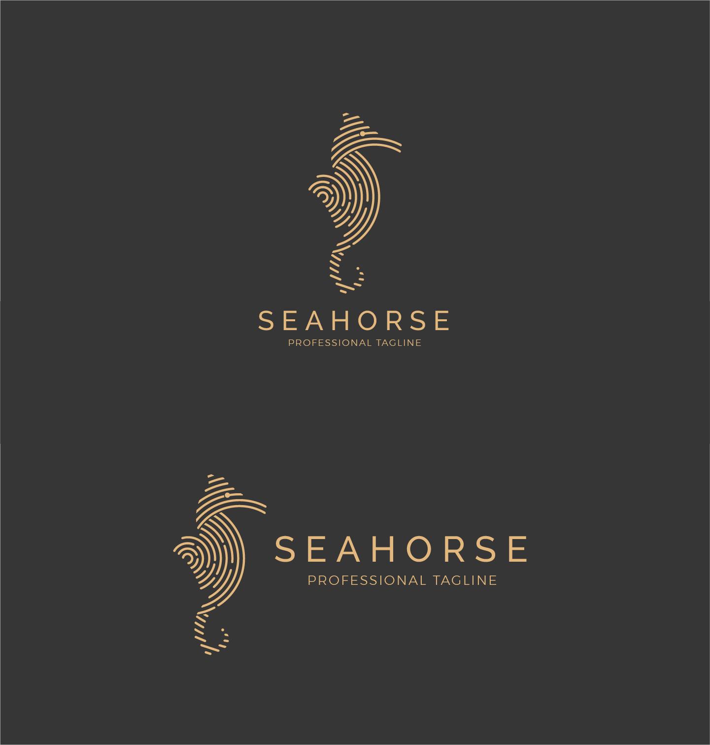 Animal Sea Logo - Seahorse Logo example image 2