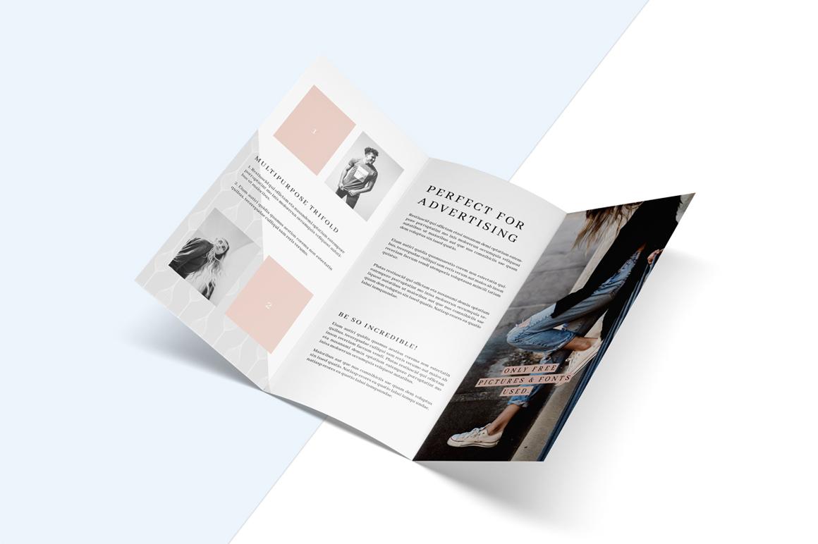MALINA Trifold Brochure + Pattern example image 7