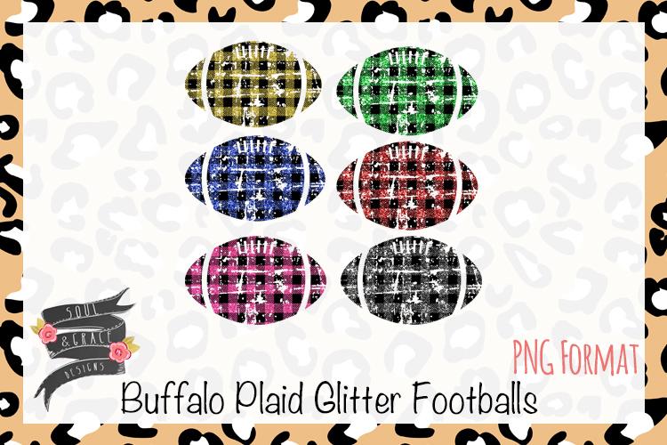 Buffalo Plaid Glitter Footballs example image 1