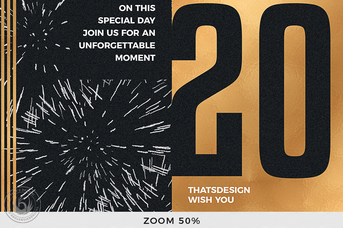 New Year Flyer Template V9 example image 8