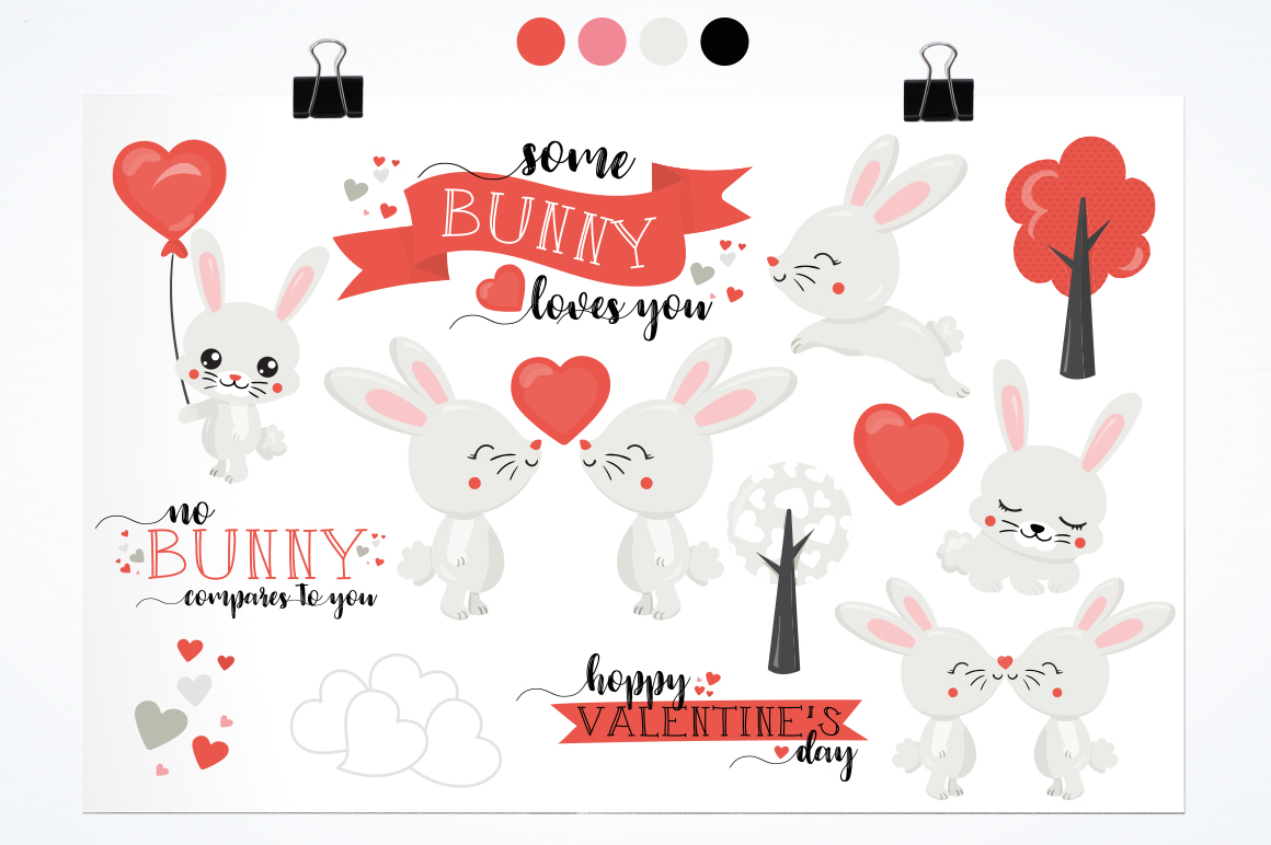 Cute Bunny graphic and illustrations example image 5