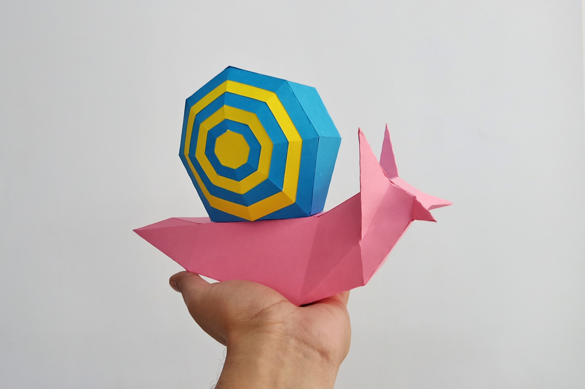 DIY Papercraft Snail,Paper Snail model,Printables,Paper toy example image 9