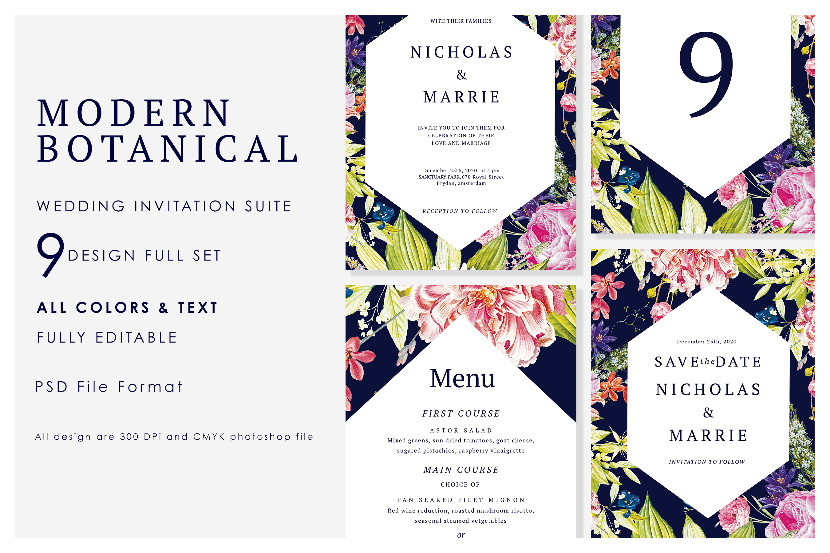 Modern Botanical Wedding Suite example image 1